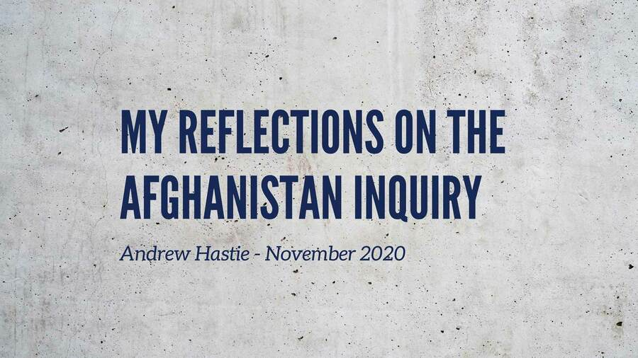 The Afghanistan Inquiry